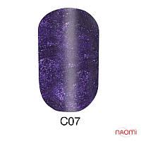 Гель-лак 6 мл Naomi Cat Eyes С07 сливовый с фиолетовыми шиммерами
