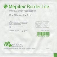 Mepilex Border Lite самоклеющаяся сорбционная повязка стерильная 10 х 10 см