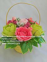 """Небольшой букет роз из конфет """"Ванильный десерт""""№7, фото 1"""