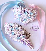 """""""Жасминовый рай"""" свадебные украшения из полимерной глины. Авторскийй дизайн"""