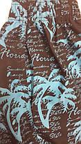 Шорты-капри мужские 5605 Пальмы темно-серые на размеры 46-54., фото 2