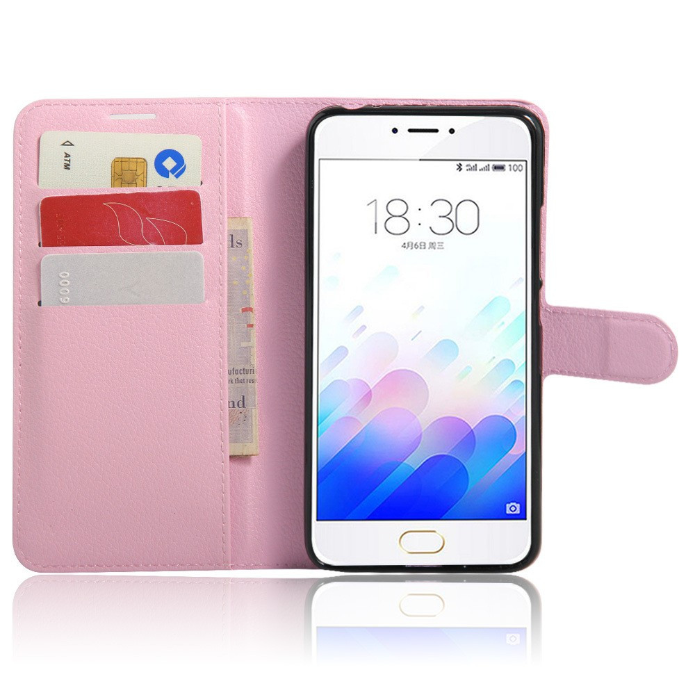 Чехол Meizu M3 note книжка кожа PU розовый