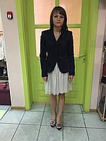 Пиджак женский весна-лето длинный рукав кардиган жакет темно-синий  Rinascimento