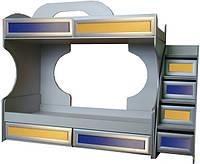 Модульная мебель Пионер-С Кровать 2-х ярусная с ящиками на роликах и вкладами Пионер Lа