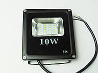 Светодиодный прожектор LED 10W Slim премиум SMD черн