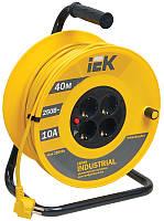 Катушка УК40 с термозащитой 4 места 2P+PE 3x1,0 мм²/40 метров, IEK