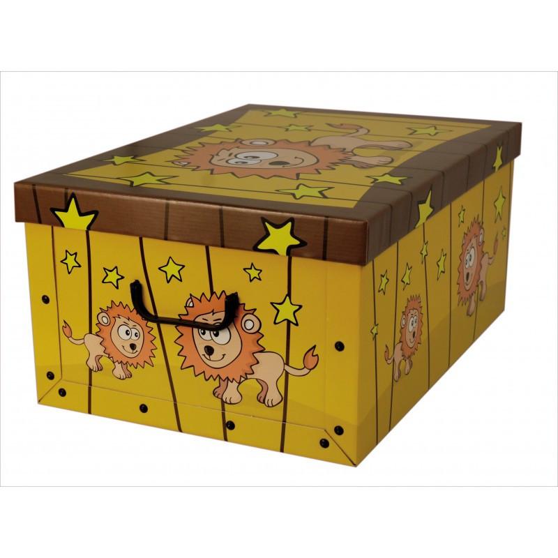 Коробка Animals Savana Leone Maxi 51*37*24 см, Miss Space 7031