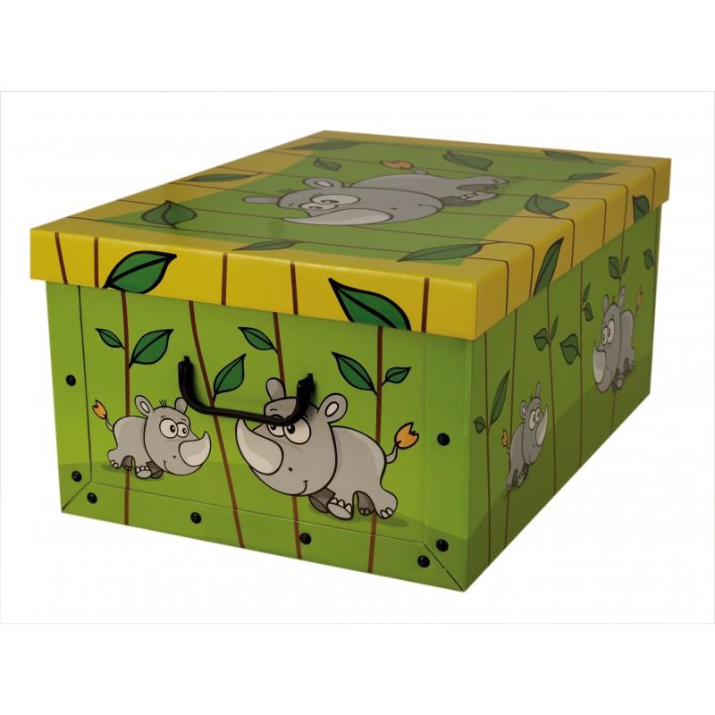 Коробка Animals Savana Rinoceronte Maxi 51*37*24 см, Miss Space 7029