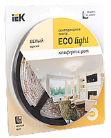 Лента LED 5м блистер LSR-3528WW60-4.8-IP65-12V теплый белый цвет IEK-eco (LSR1-1-060-65-1-05)