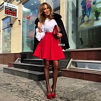 Юбка женская ,Кашемир Красный, черный, белый, бутылка, оранжевый, голубой Отличное качество👍ипос №097-260