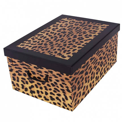 Коробок Fashion Leopardo Maxi 51*37*24 см, Miss Space 7026, фото 2