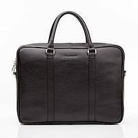 Кожаная мужская деловая сумка Blamont 022 черная