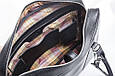 Кожаная мужская деловая сумка Blamont 022 черная, фото 6