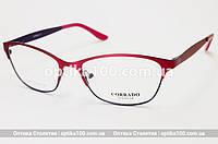 Металлическая Fashion оправа для очков. Розовая