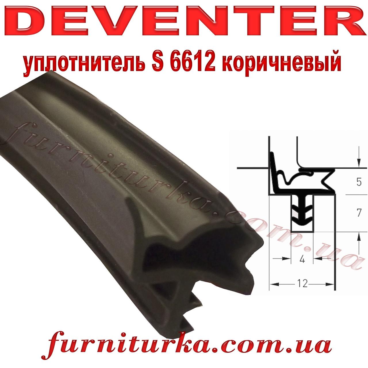 Уплотнитель дверной Deventer S 6612 коричневый