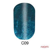 Гель-лак 6 мл Naomi Cat Eyes С09 синий с бирюзовыми шиммерами