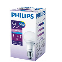 Светодиодная лампа PHILIPS, 9W, 6500K, холодного свечения, цоколь - Е27, 2 года гарантии!!