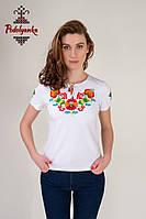 Жіноча вишиванка Петриківська на білому, фото 1