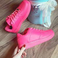 Женские кроссовки Nike air force pink -розовые малины