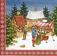 Декупажная салфетка Рождественская ярмарка 6782