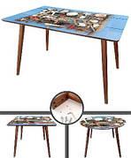Стол  с четырьмя деревянными ножками
