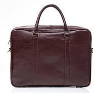 Кожаная мужская деловая сумка Blamont 022 коричневая