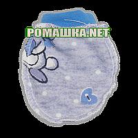 Варежки (царапки,рукавички,антицарапки) р. 56 для новорожденного цветные ткань ФУТЕР 100 % хлопок 3490 Голубой