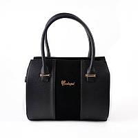Женская комбинированная сумка М62-47/замш