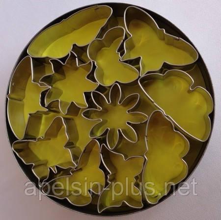 """Вырубки металлические """"Бабочки ассорти"""" набор из 11 форм"""