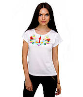Футболка женская с вышивкой   Вишита футболка.