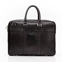 Кожаная мужская деловая сумка Blamont 023 черная