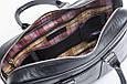 Кожаная мужская деловая сумка Blamont 023 черная, фото 4