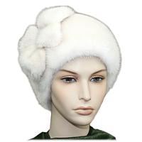 Женская  стильная шапка из меха норки
