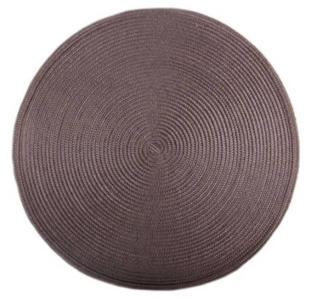 Коврик сервировочный круглый 38 см (коричневый), PDL, фото 2