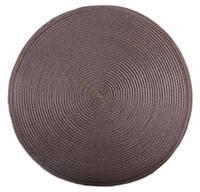 Коврик сервировочный круглый 38 см (коричневый), PDL