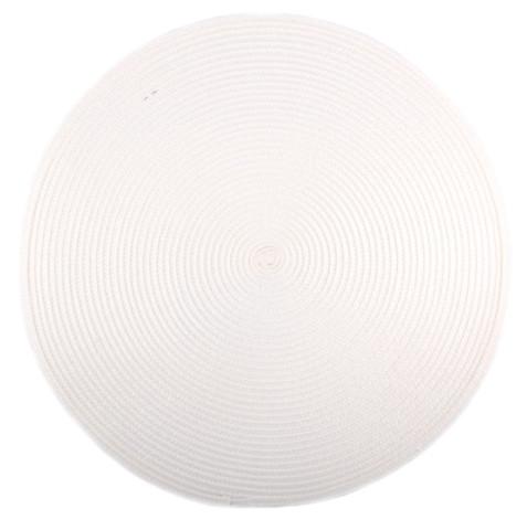 Коврик сервировочный круглый 38 см (белый), PDL
