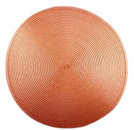 Коврик сервировочный круглый 38 см (бронзовый), PDL, фото 2