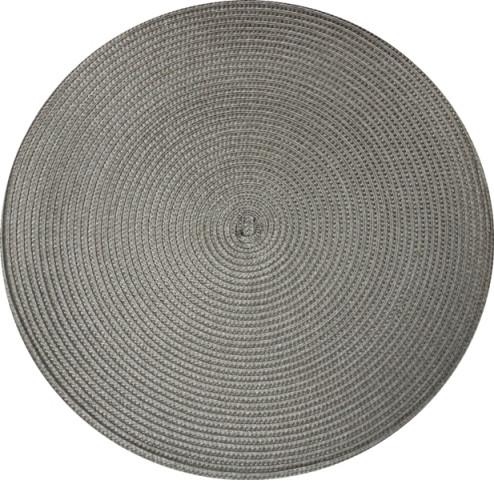 Коврик сервировочный круглый 38 см (серый), PDL