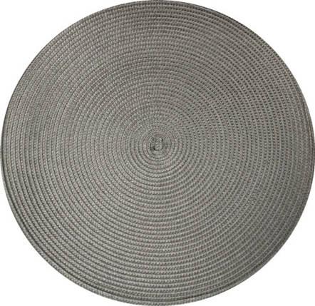 Коврик сервировочный круглый 38 см (серый), PDL, фото 2