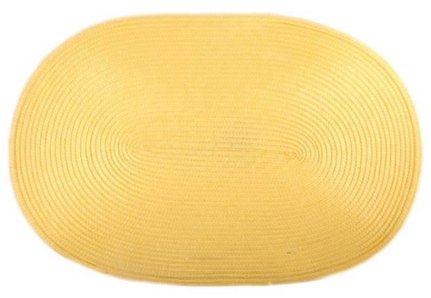 Коврик сервировочный овальный 44*29,5 см (желтый), PDL, фото 2