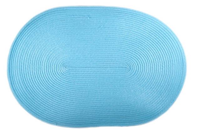 Коврик сервировочный овальный 44*29,5 см (голубой), PDL, фото 2