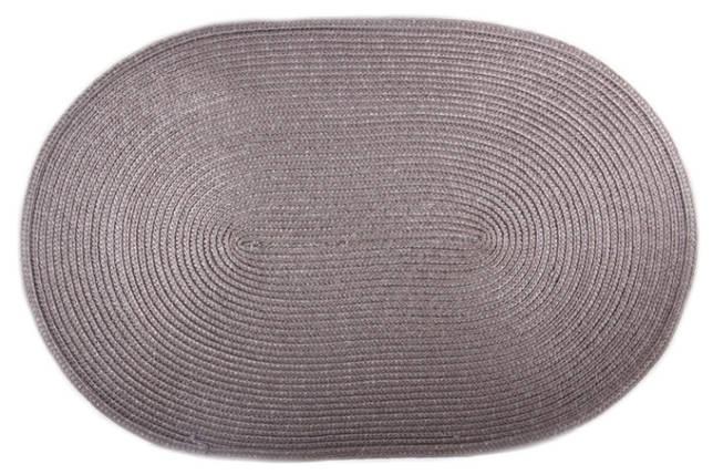 Коврик сервировочный овальный 44*29,5 см (серый), PDL, фото 2