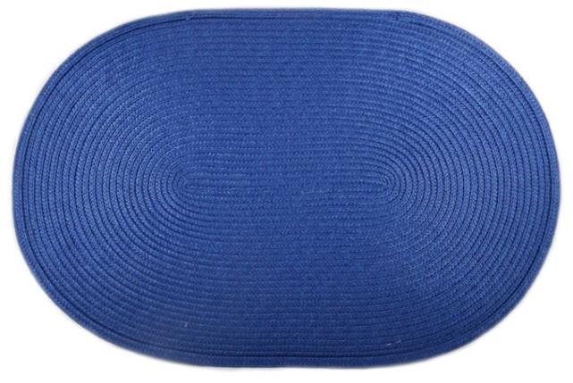 Коврик сервировочный овальный 44*29,5 см (синий), PDL, фото 2