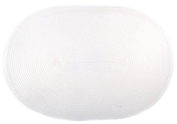 Коврик сервировочный овальный 44*29,5 см (белый), PDL, фото 2