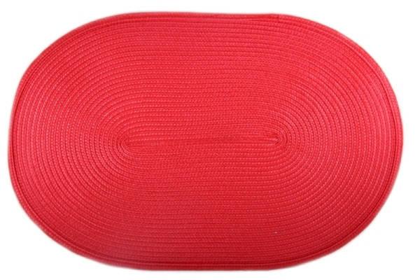 Коврик сервировочный овальный 44*29,5 см (красный), PDL, фото 2