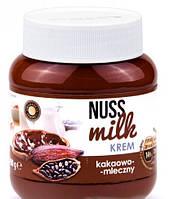 Шоколадно-молочный крем Nuss Milk kreme со вкусом какао, 400 г (Польша)