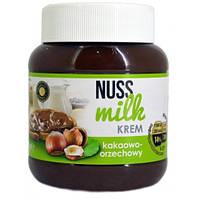 Шоколадный крем Nuss Milk kreme с какао-ореховым вкусом, 400 г (Польша)