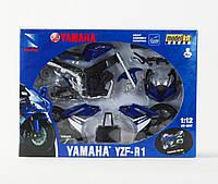 Мотоцикл метал. New Ray, YAMAHA YZF-R1, сборной, модель-мото, масштаб 1:12, в кор. 25*18*5см (12шт)