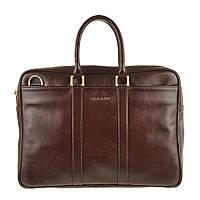 Кожаная мужская деловая сумка Blamont 023 коричневая
