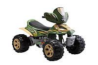 Электроквадроцикл детский T-735 GREEN (108*71*75см), квадроцикл электромобиль